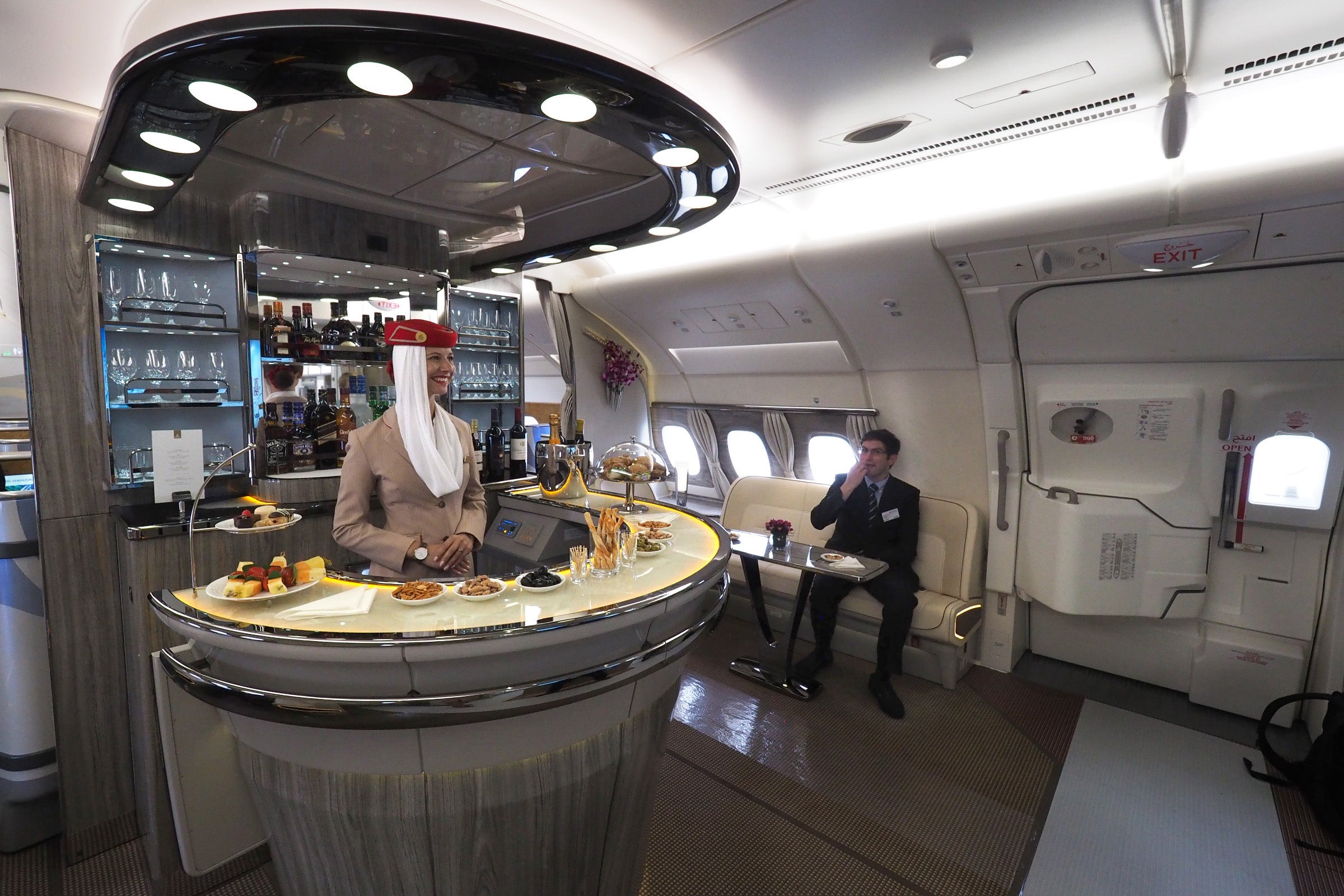 Check Out Emirates' Fancy New Airbus A380 In-Flight Bar - The Points Guy
