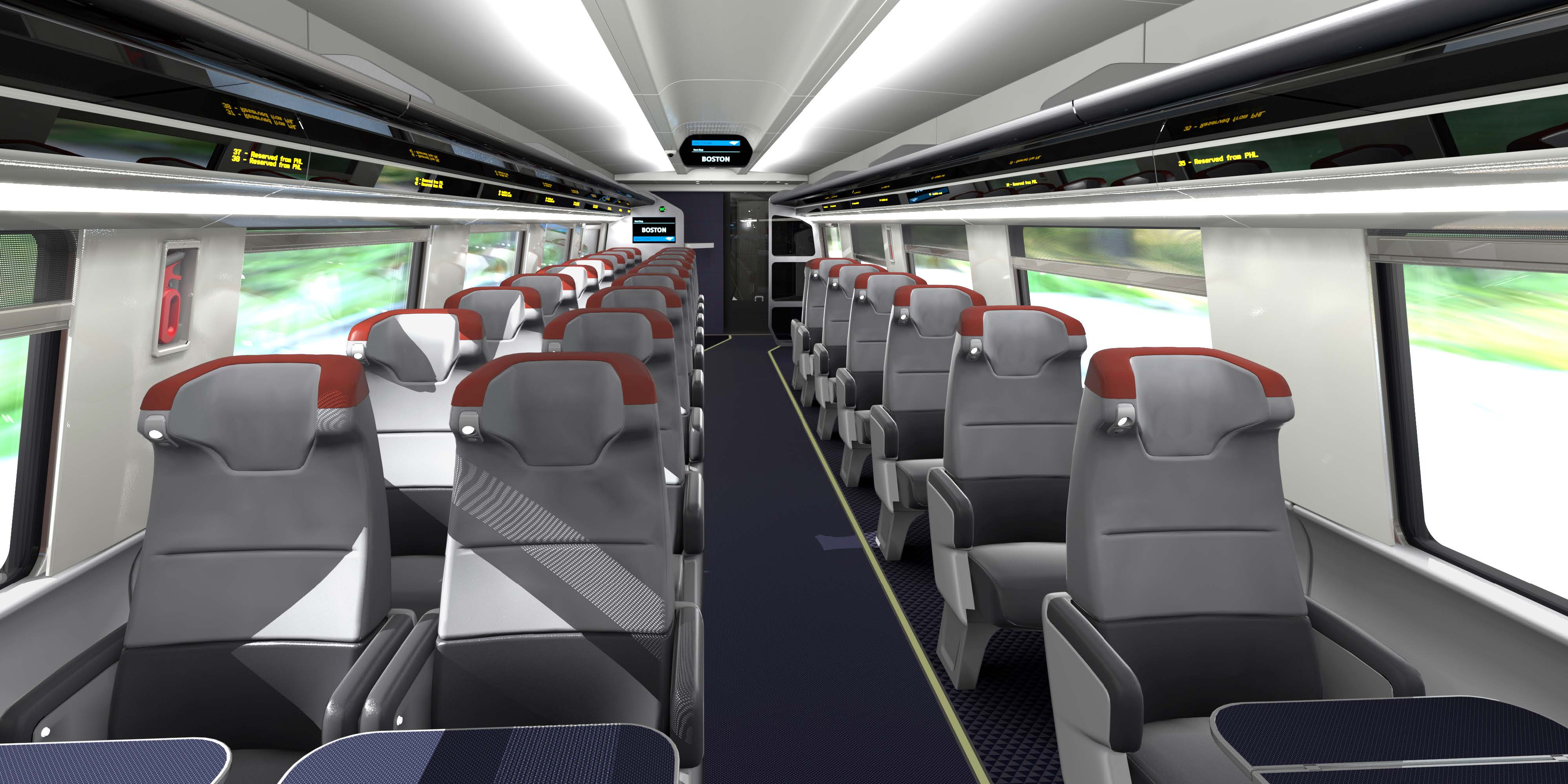 First Look at Amtrak's New Acela Business and First Class