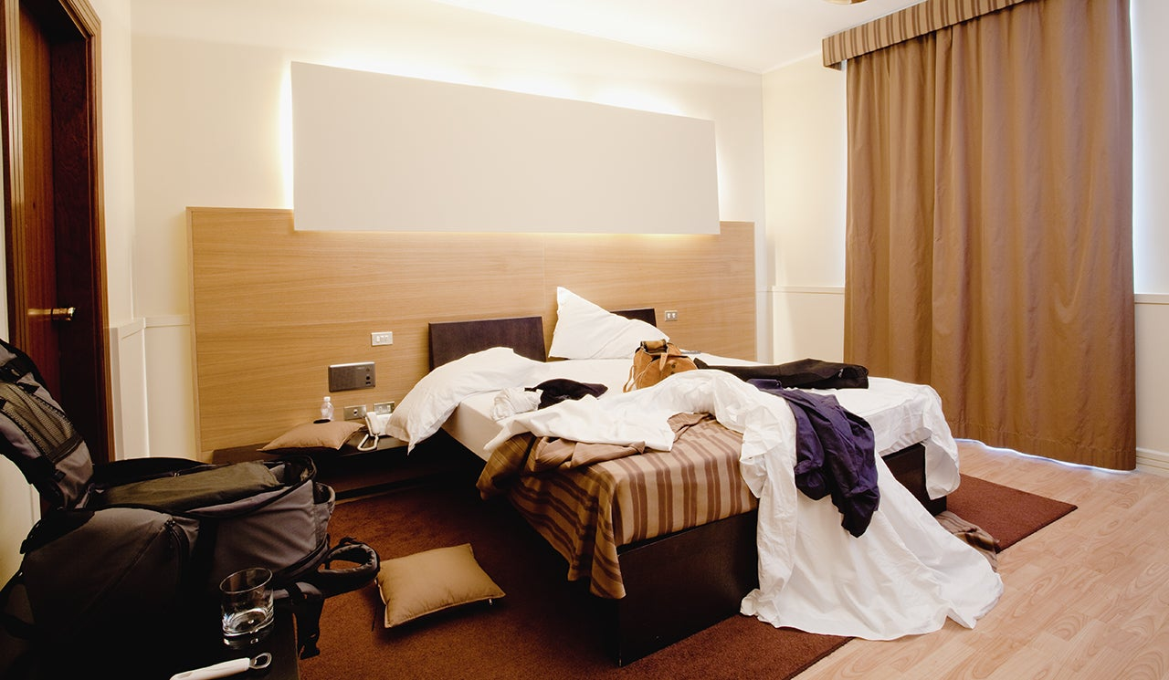 hot mess how tidy should you leave a hotel room