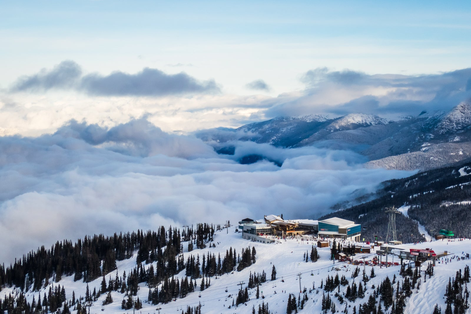 Whistler Blackcomb Ski Resorts Roundhouse and Peak 2 Peak Gondola. (Photo via Getty Images)