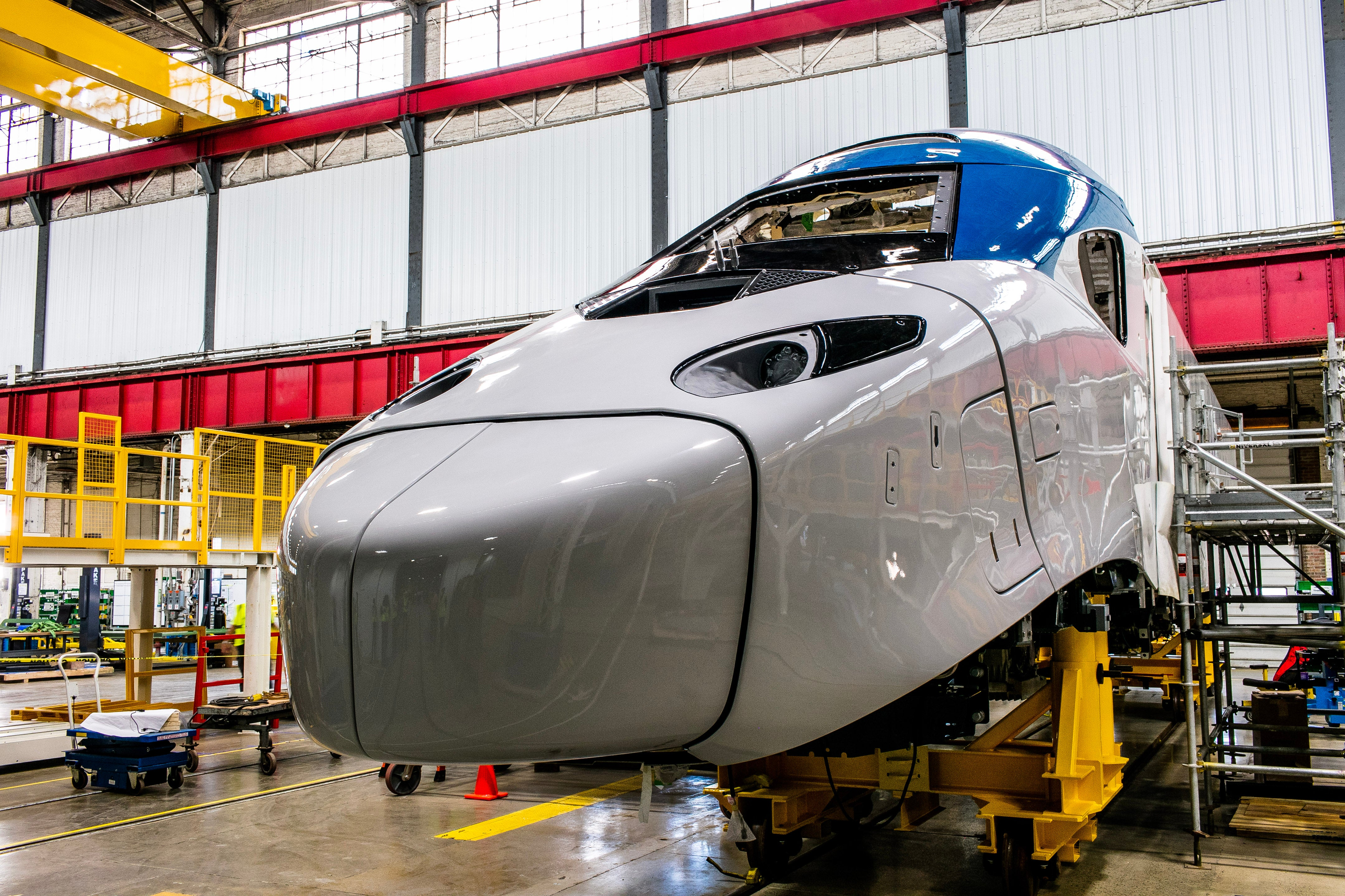Here Are Photos of Amtrak's New Acela Trains Being Built