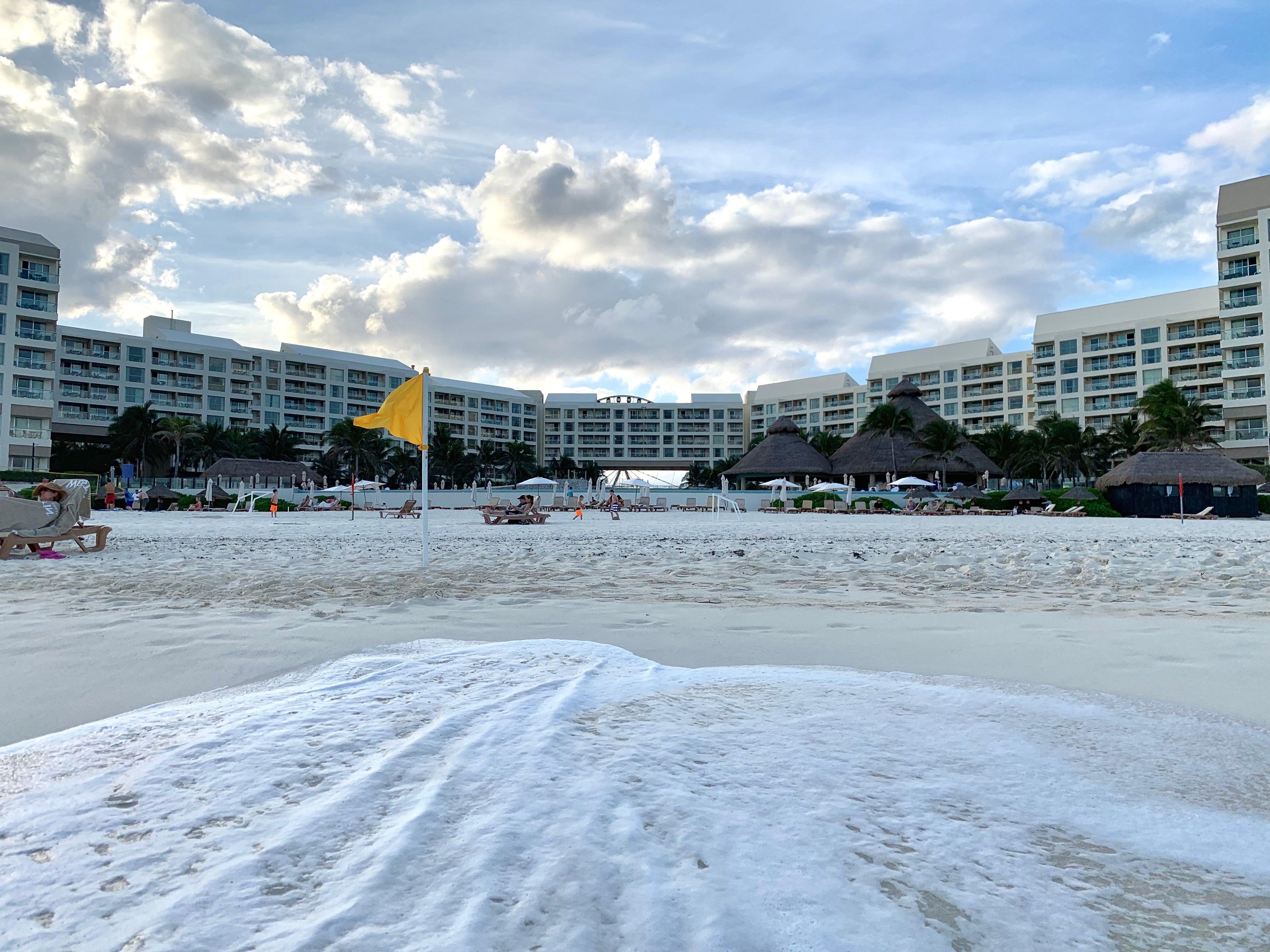 Westin Lagunamar Ocean Resort Cancun view from the ocean