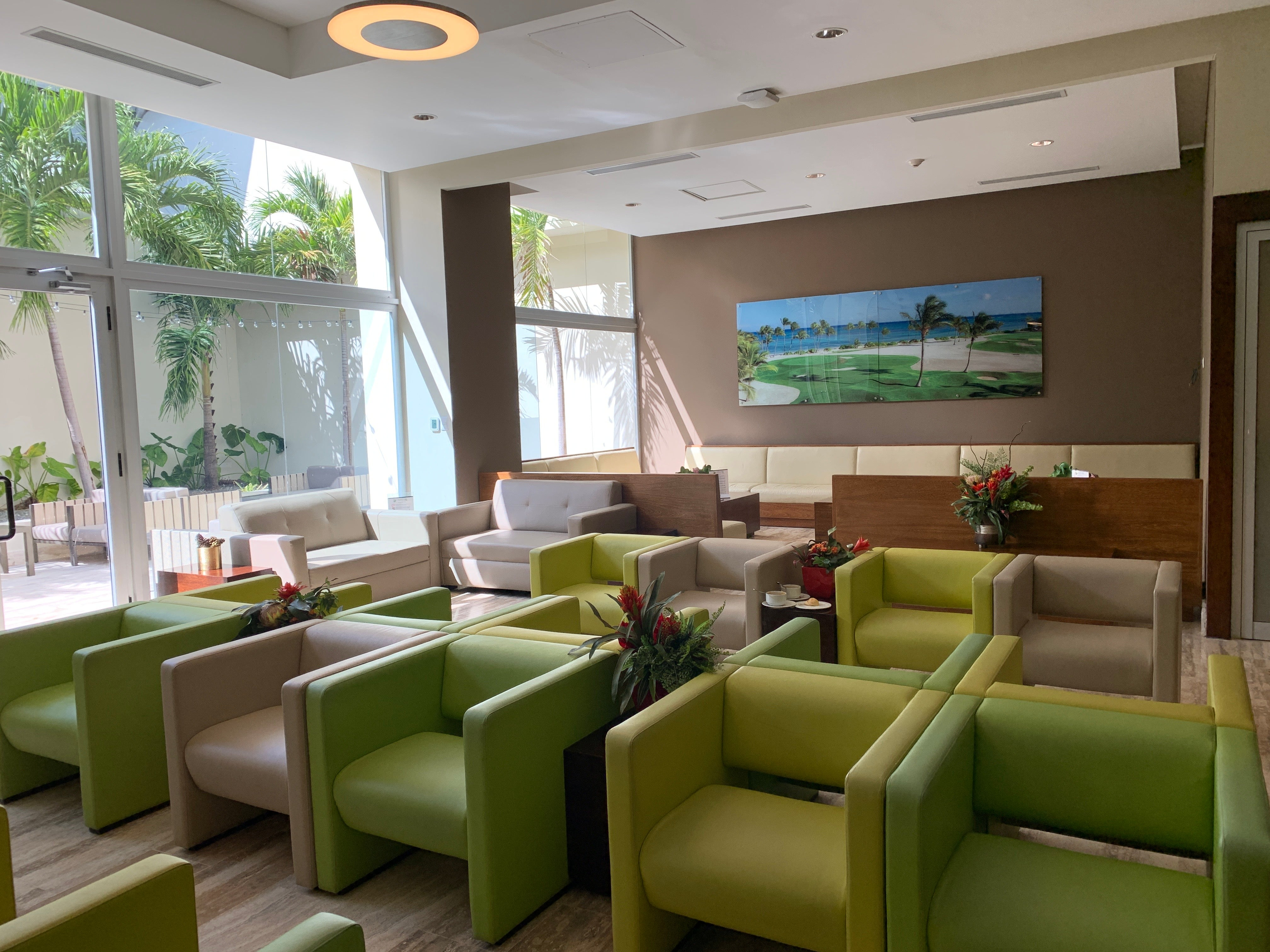The Priority Pass lounge in Punta Cana (Summer Hull/The Points Guy)