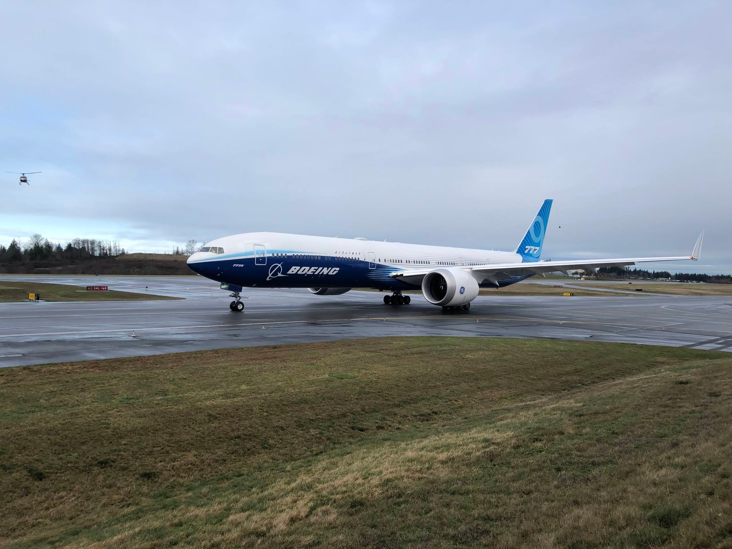 Boeing's 777X has completed its maiden flight