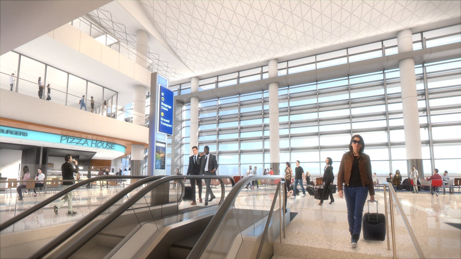 What the new Midfield Satellite Concourse at LAX will look like