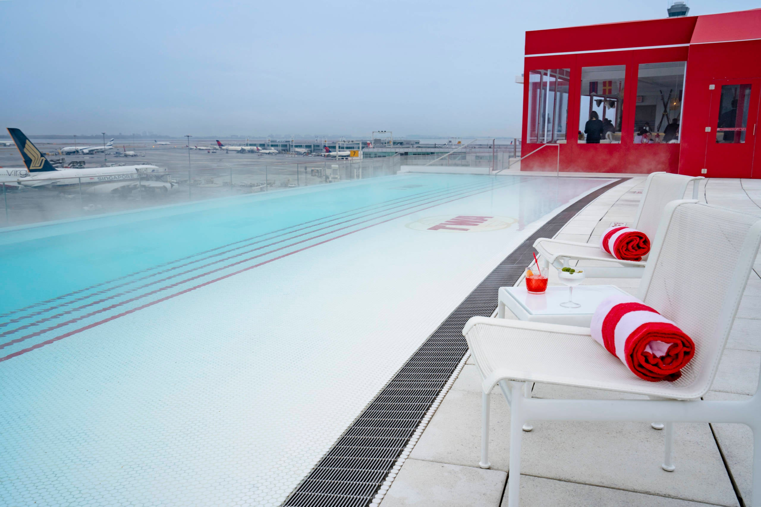 Sticker shock: TWA Hotel adds $50 per person fee plus tax to use that famous rooftop pool - The Points Guy