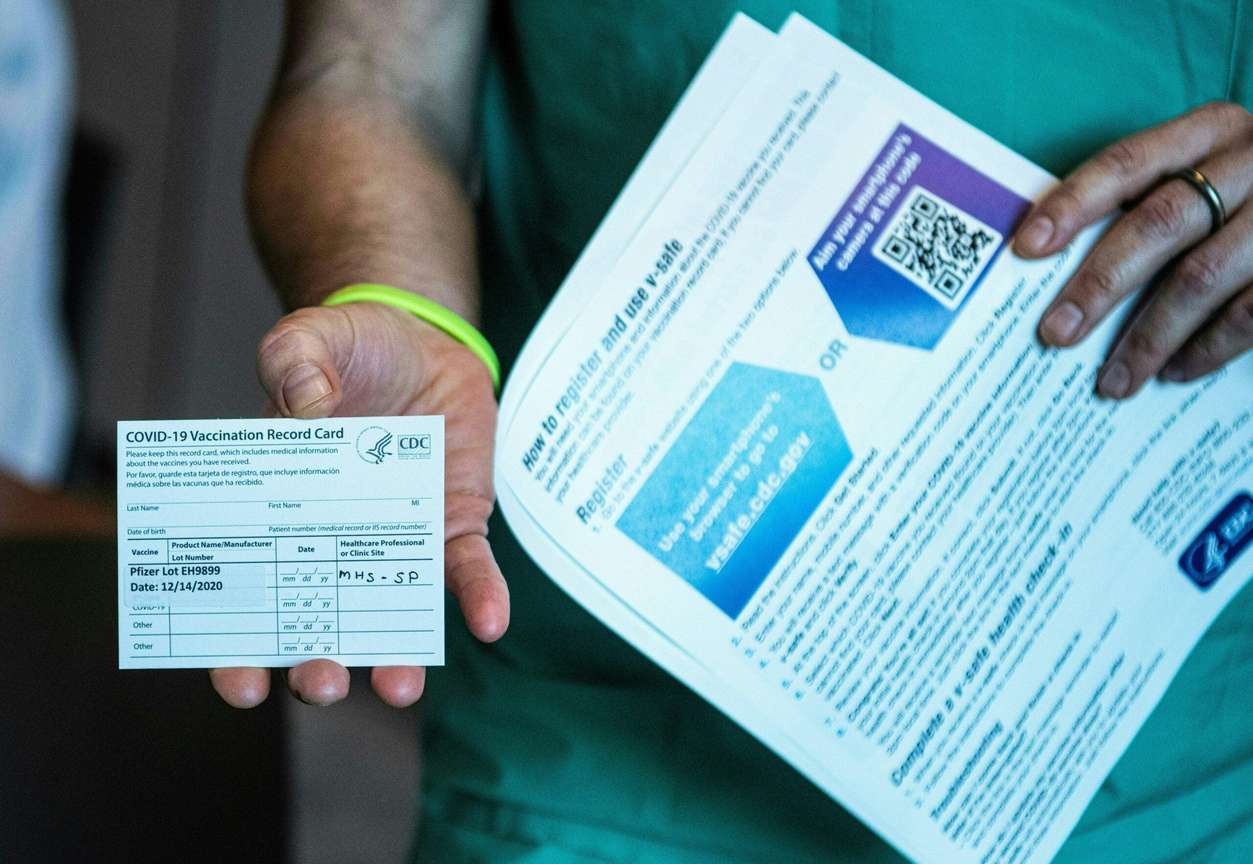 What documentation do you need to have after getting vaccinated?