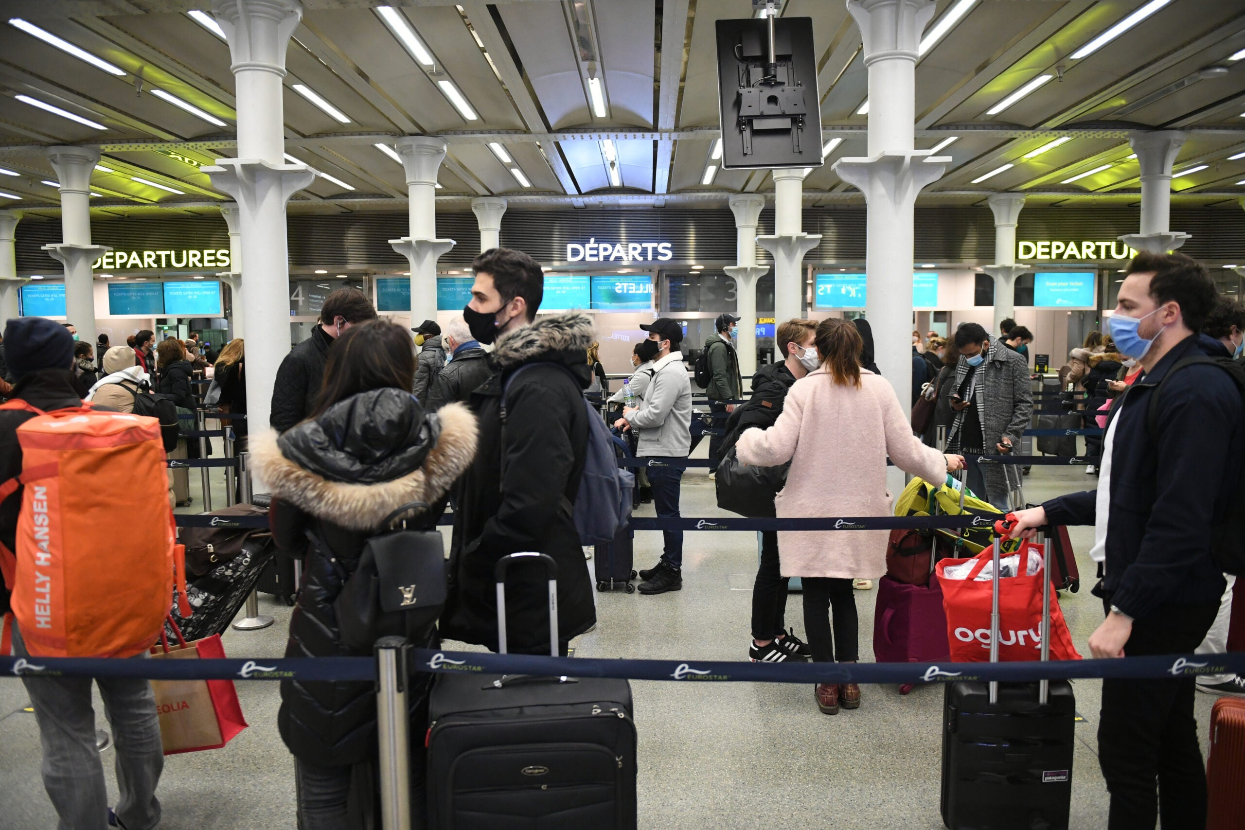 Chaos in the UK following new travel bans and flight cancellations to slow spread of new coronavirus strain