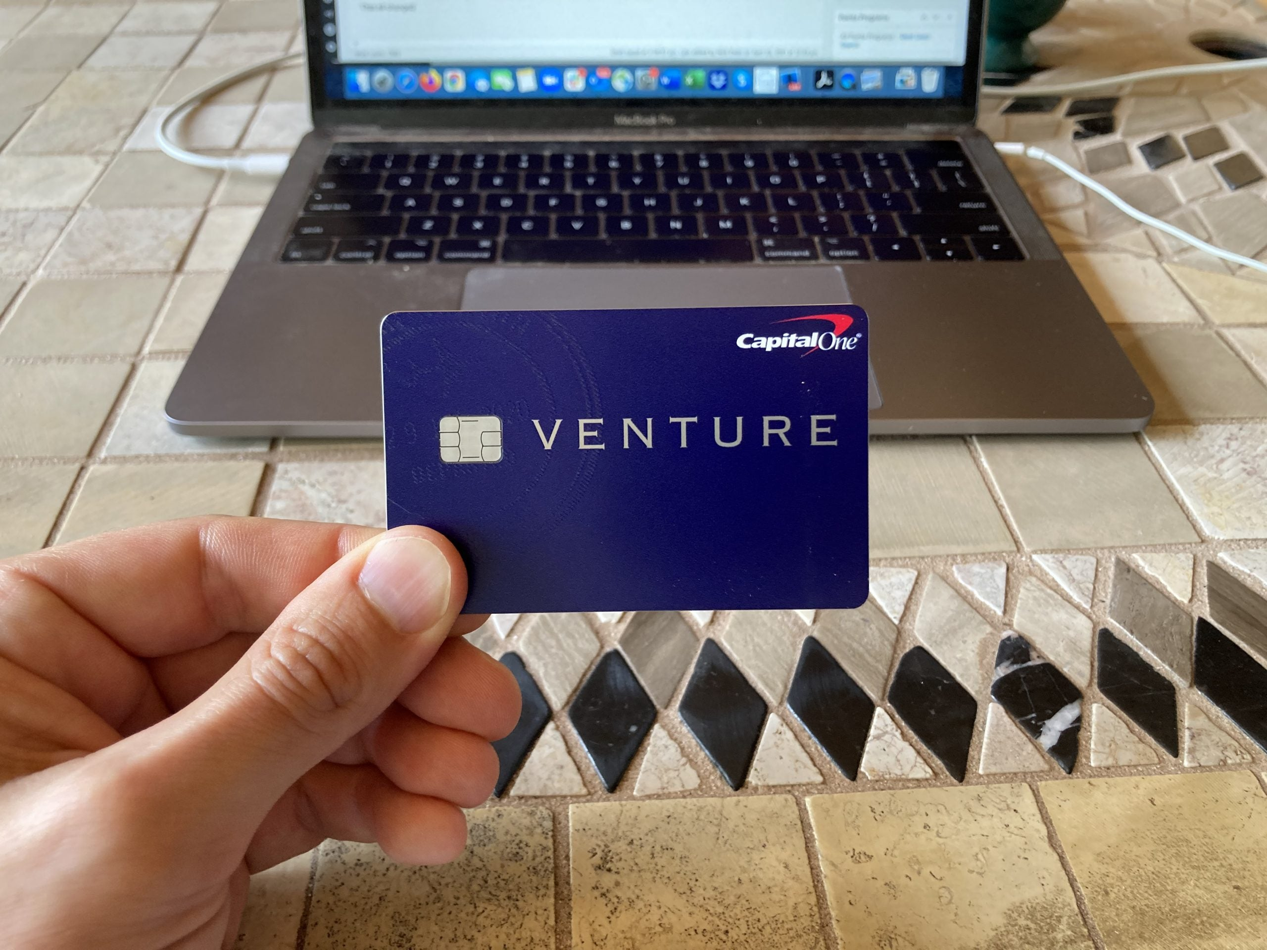 A photo of Nick Ewen's new Capital One Venture card