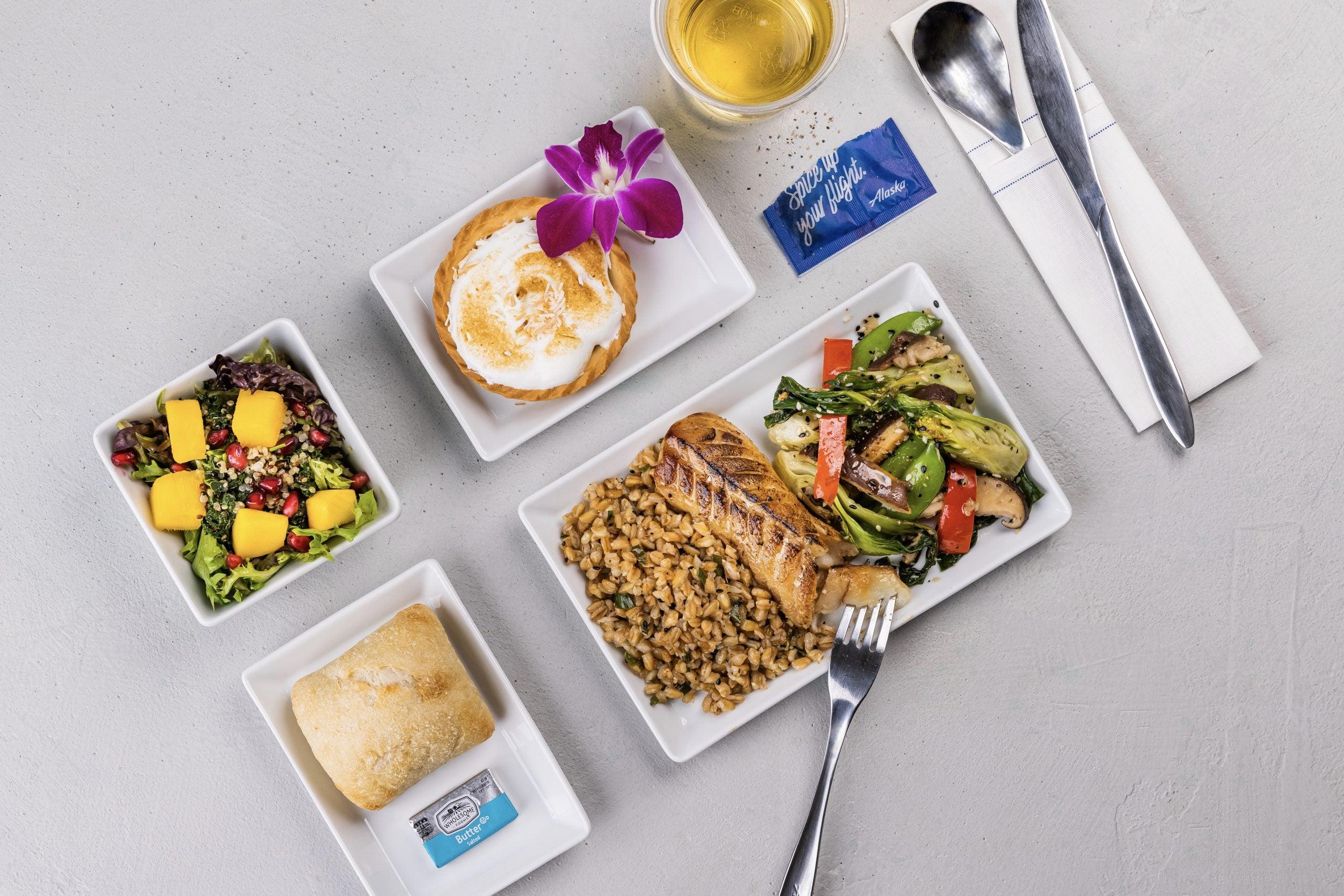 Alaska first class meal