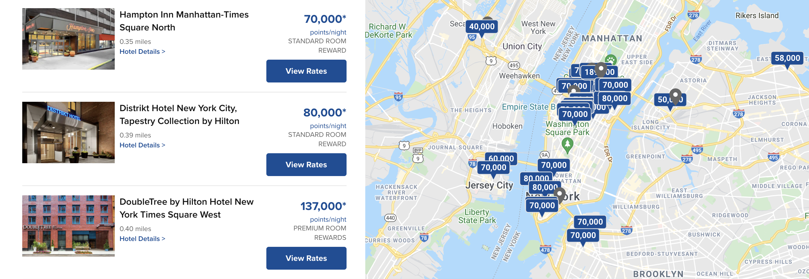 Search results with Hilton Honors in New York City over New Year's weekend