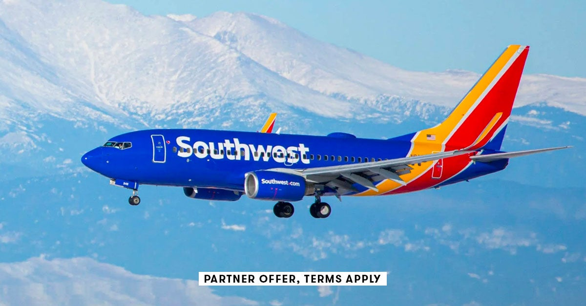 Best offer yet: Earn up to 100,000 bonus points for Southwest personal cards