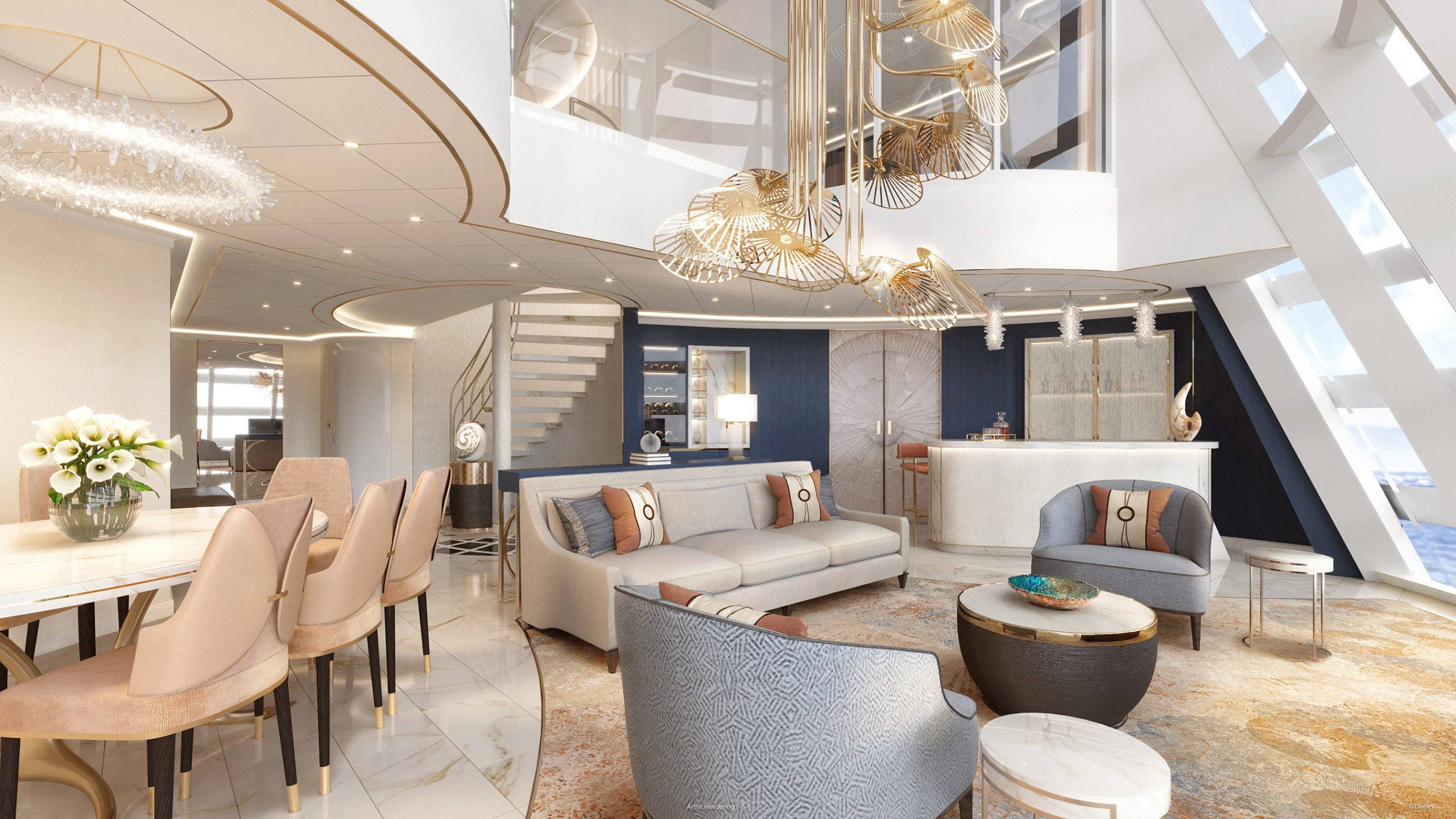Disney just revealed an epic 2-story suite in the funnel of its newest ship - The Points Guy