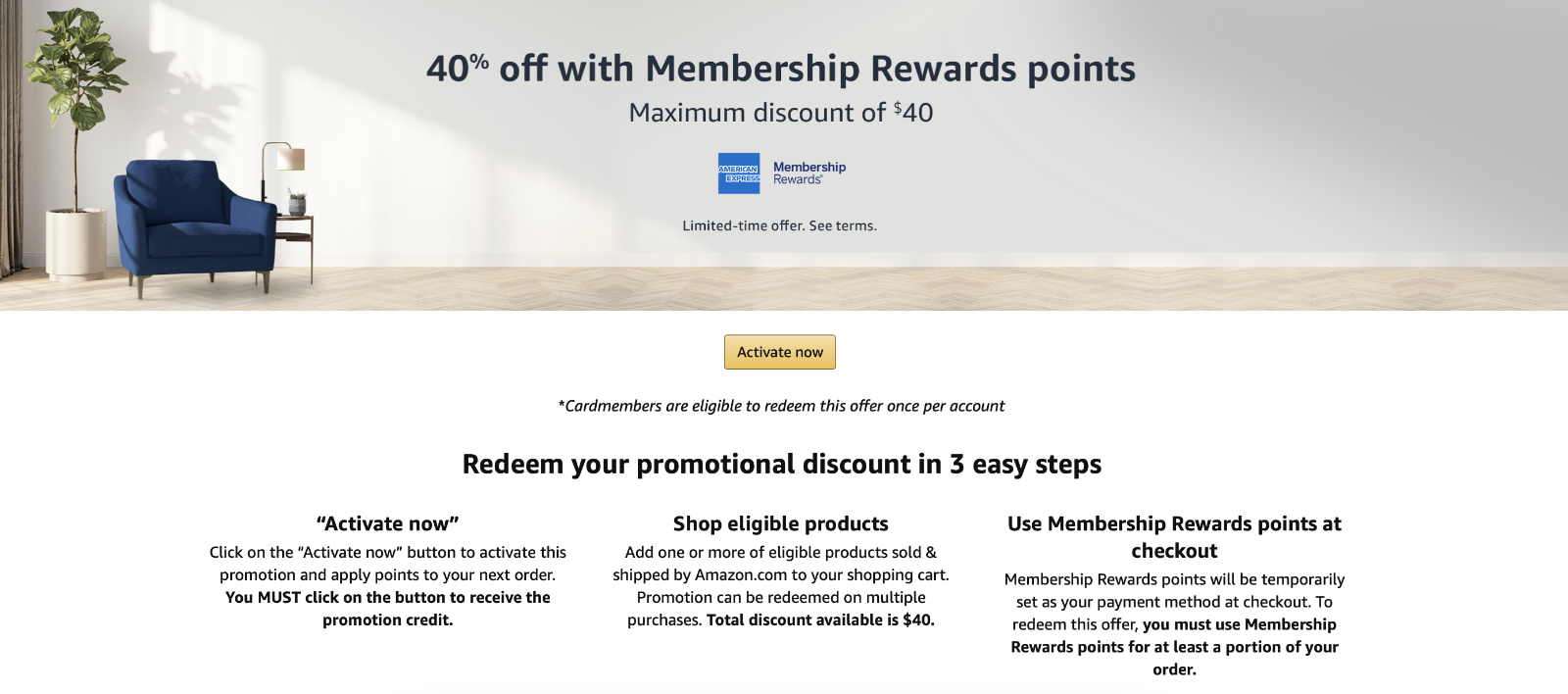 Save up to $9 on Amazon using just one Amex point (Targeted)
