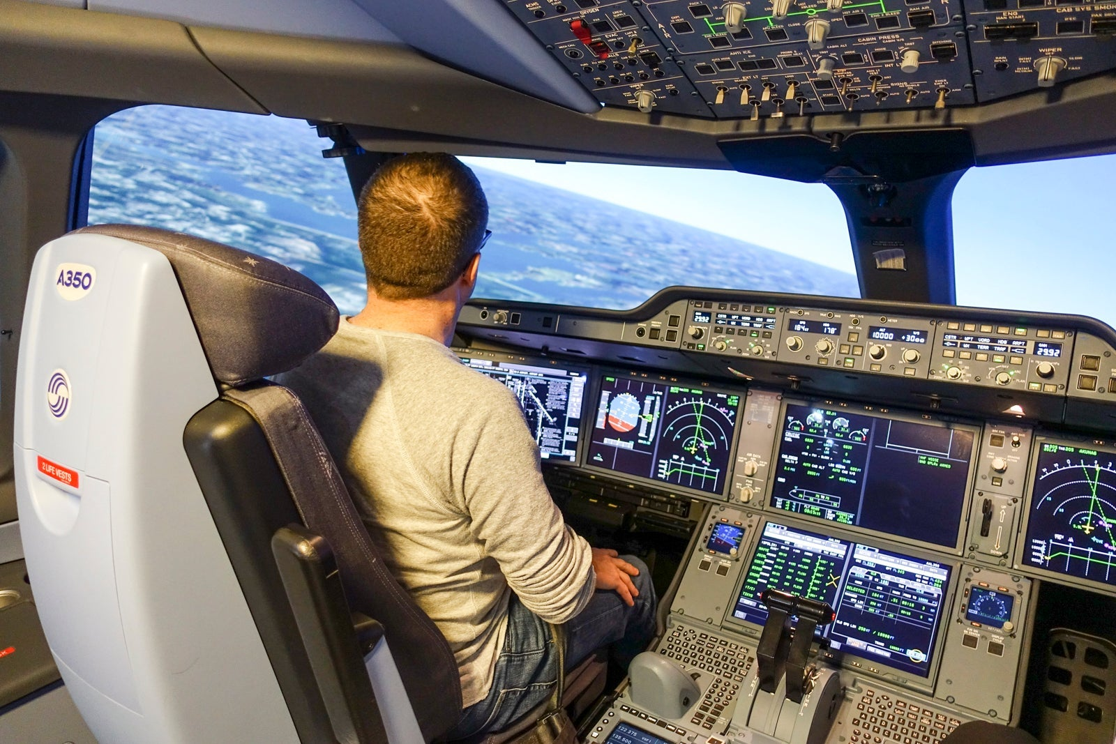 �Our job is on the line every 6 months� � Inside the pilot�s simulator check